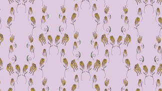 lavender device wallpaper with flowers pattern
