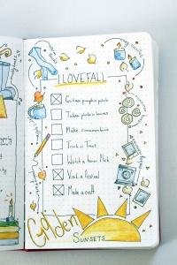 Bullet Journal Fall Bucket List