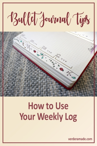 Bullet Journal Tips: How to Use your Weekly Log