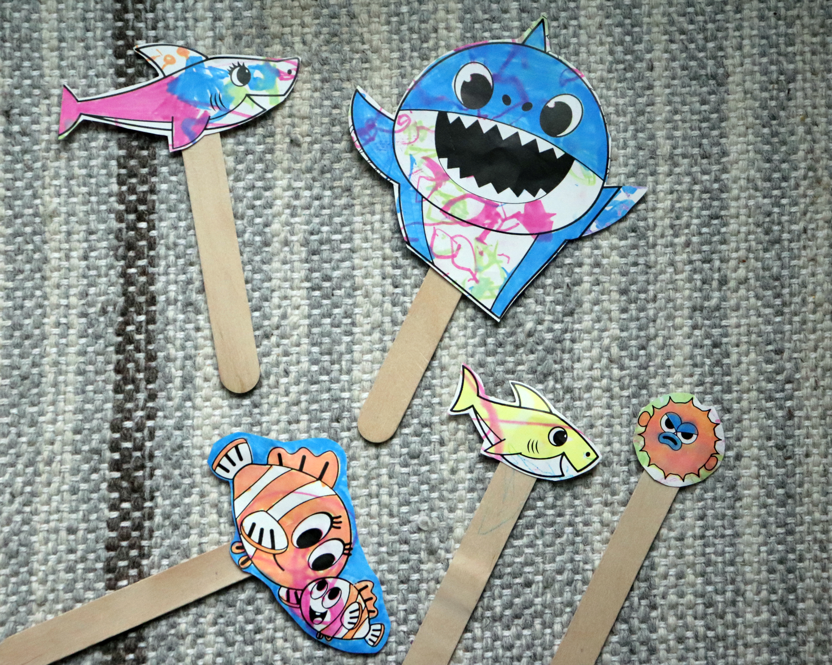 toddler stick puppet craft