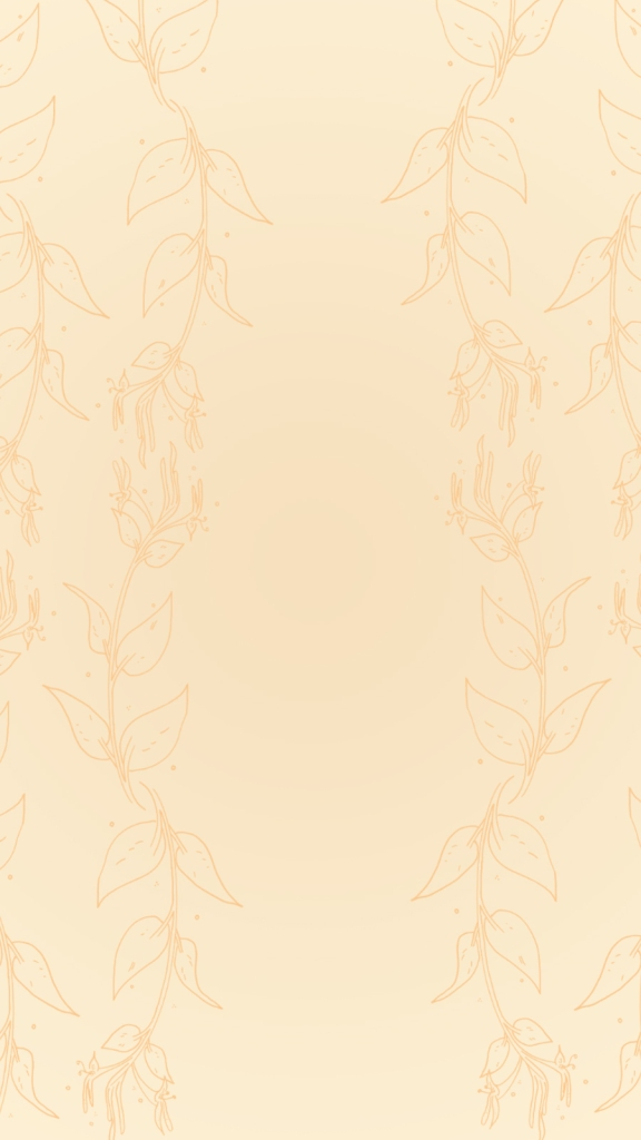 Handdrawn Honeysuckle lock screen background wallpaper
